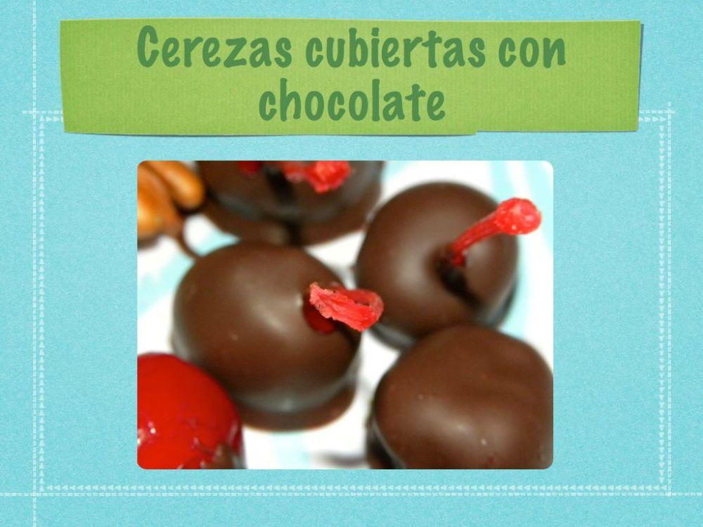 Cerezas cubiertas de chocolate